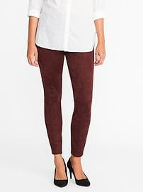 Stevie Sueded Ponte-Knit Pants for Women - Wine Tasting